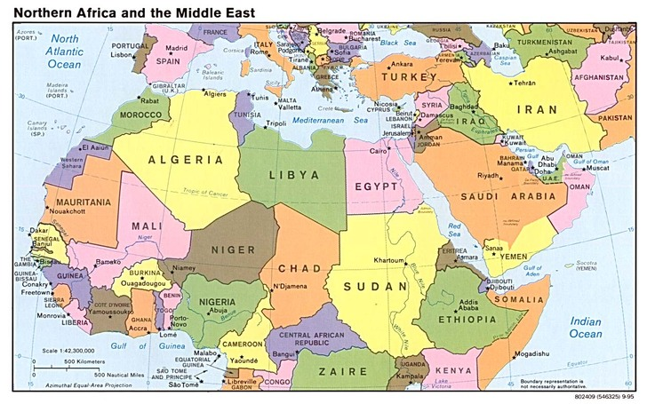 Map Of North Africa And The Middle East Map and Flags   Middle East and North Africa مرحبا بكم (Welcome!)